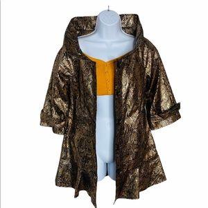 NWT Peppe Peluso Peplum Snake Print Jacket Dress